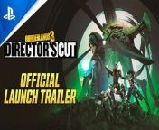 Take on a colossal raid boss, solve interplanetary mysteries, earn new themed loot, and go behind-the-scenes on the making of Borderlands 3. It all awaits you in the Director's Cut add-on, available now.<br/><br/>Subscribe and follow for more exclusive Borderlands 3 info:<br/>Instagram: https://instagram.com/borderlands<br/>Facebook: https://facebook.com/borderlandsgame<br/>Twitter: https://twitter.com/Borderlands<br/>Website: https://borderlands.com<br/><br/>ABOUT BORDERLANDS 3<br/><br/>The original shooter-looter returns, packing bazillions of guns and an all-new mayhem-fueled adventure. Blast your way through new worlds and enemies as one of four brand new Vault Hunters, each with deep skill trees, abilities, and customization. Play solo or join with friends to take on insane enemies, collect loads of loot and save your home from the most ruthless cult leaders in the galaxy.<br/><br/>Key Features: <br/><br/>A MAYHEM-FUELED THRILL RIDE <br/>Stop the fanatical Calypso Twins from uniting the bandit clans and claiming the galaxy's ultimate power. Only you, a thrill-seeking Vault Hunter, have the arsenal and allies to take them down.<br/><br/>YOUR VAULT HUNTER, YOUR PLAYSTYLE<br/>Become one of four extraordinary Vault Hunters, each with unique abilities, playstyles, deep skill trees, and tons of personalization options. All Vault Hunters are capable of awesome mayhem alone, but together they are unstoppable.<br/><br/>LOCK, LOAD, AND LOOT<br/>With bazillions of guns and gadgets, every fight is an opportunity to score new gear. Firearms with self-propelling bullet shields? Check. Rifles that spawn fire-spewing volcanoes? Obviously. Guns that grow legs and chase down enemies while hurling verbal insults? Yeah, got that too.<br/><br/>NEW BORDERLANDS <br/>Discover new worlds beyond Pandora, each featuring unique environments to explore and enemies to destroy. Tear through hostile deserts, battle your way across war-torn cityscapes, navigate deadly bayous, and more!<br/><br